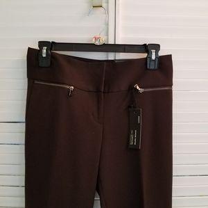 Express Editor's Pant, deep brown color.